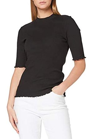 SELECTED Womens SLFANNA 2/4 CREW NECK TEE S NOOS T-Shirt, Black