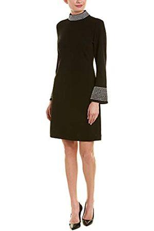 Karl Lagerfeld Paris Damen Mock Neck Bell Sleeve Sheath Dress Kleid