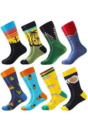 BISOUSOX Herren Socken & Strümpfe - Herren Socken Lustige Bunte Socken Strümpfe für Mann Gemusterte Socken Verrückte Socken Modische Mehrfarbig Klassische Strümpfe Geschenk für Männer und Freunde