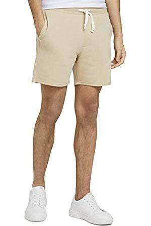 TOM TAILOR Herren 1026108 Sweatpants Bermuda Shorts, 27094-Sand Melangé