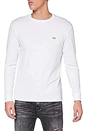 Gianni Kavanagh Herren White Core Long Sleeve Ribbed Tee Unterhemd