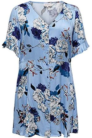 Carmakoma Womens, Dress, (AOP:OPEN FLOWER Placid Blue)