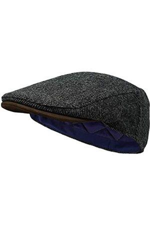 Borges & Scott Herren Hüte - Die Sloan - Flat Cap aus Irish Tweed und Nubukleder - - S