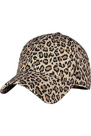 XRDSS Fashion Leopard Print Baseball Cap Cotton Embroidered Cap with Leather Bill - Blau - Einheitsgröße