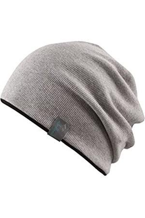 Chillouts Erwachsene Brooklyn Hat Longbeanie, 22 Light Grey/Black