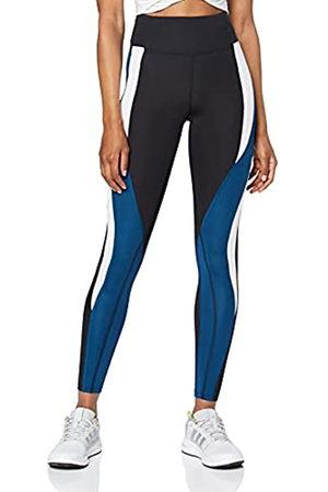 AURIQUE Damen Leggings - BAL1120 Sport Legging, (Black/Gibraltar Sea/White)