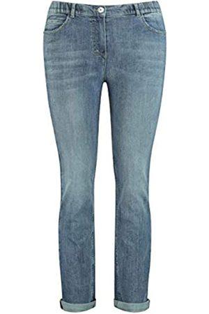 Samoon Damen Cropped - Damen Betty Jeans mit dezentem Used-Effekt körpernahe Passform 52