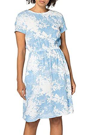 Timezone Damen Freizeitkleider - Damen Printed Basic Dress Lässiges Kleid