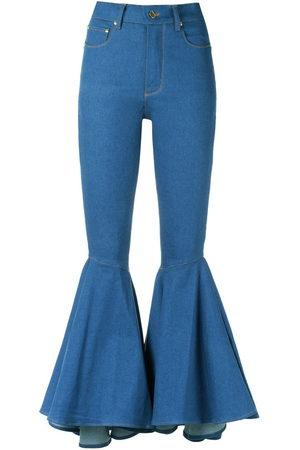 Amapô Damen Bootcut - Jeans mit weitem Bein