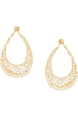 Aurélie Bidermann Damen Ohrringe - Vintage Lace' Ohrringe mit Diamanten - Metallisch
