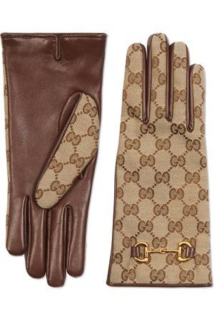 Gucci Handschuhe aus GGÂ Canvas mit Horsebit