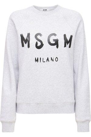 MSGM Sweatshirt Aus Baumwolle Mit Logodruck