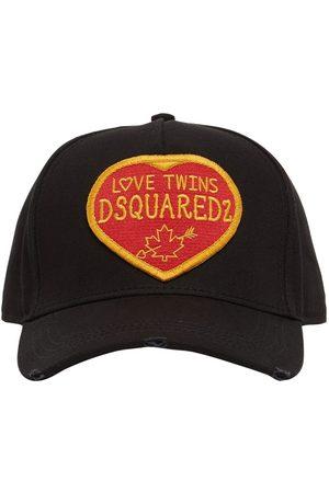 DSQUARED2 Kappe Aus Baumwollgabardine Mit Patches