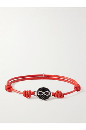 TATEOSSIAN Herren Armbänder - Waxed-Cord, Stainless Steel and Carbon Bracelet