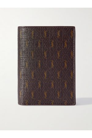 Saint Laurent Herren Geldbörsen & Etuis - Leather-Trimmed Monogrammed Canvas Billfold Wallet