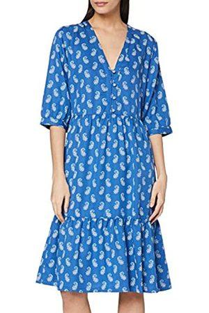 People Tree Damen V&A Neha Print V-Neck Dress Kleid