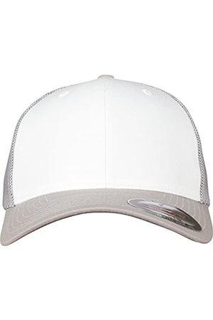 Flexfit Herren Caps - Mesh Colored Front Unisex Kappe für Damen und Herren, Mehrfarbig (silver/White/Silver)