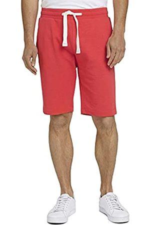 TOM TAILOR Herren 1026023 Sweatpants Bermuda Shorts, 11042-Plain Red