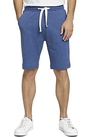 TOM TAILOR Herren 1026023 Sweatpants Bermuda Shorts, 18008-After Dark Blue White Melangé