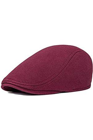 VOBOOM Herren Hüte - Herren Schiebermütze aus Baumwolle mit Ivy Gatsby Newsboy - Rot