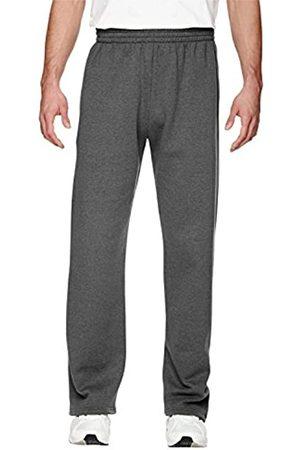 Fruit Of The Loom Herren Jogginghosen - Herren Fleece Pocketed Open-Bottom Sweatpant Trainingshose