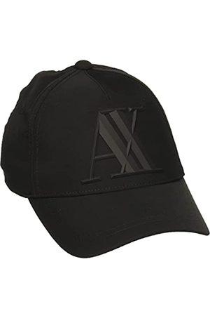 Armani Herren Caps - Herren Rubber Logo AX Baseball Cap, (Nero-Black 00020)