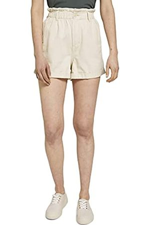TOM TAILOR Damen Shorts - Damen 1025238 Paperbag Bermuda Shorts, 22515-Soft Creme
