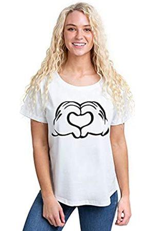 Disney Damen Mickey Love Hands T-Shirt
