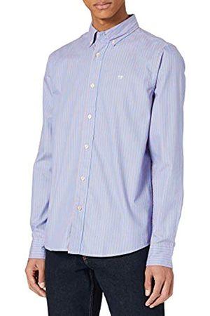Scotch&Soda Herren Business - Herren Gestreiftes Oxford-Shirt aus Bio-Baumwolle im Regular Fit Hemd