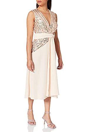 Little Mistress Damen JENA Sequin Stripe Midi Dress cocktailkleid