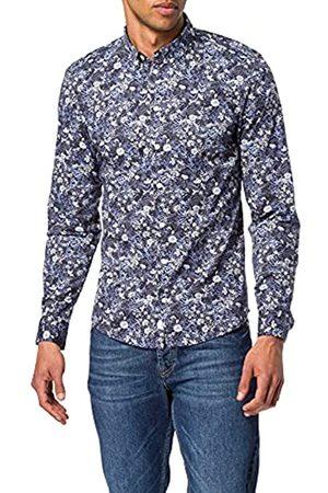 Casual Friday Herren Lange Ärmel - Herren Arthur BD LS Flower Printed Shirt Hemd