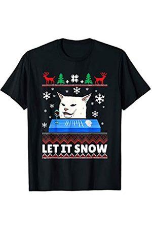 Let it Snow Weihnachtspullover Katzen Meme Hoodie Let it snow Cat Meme Ugly Sweater Hässlicher Weihnachtspulli T-Shirt