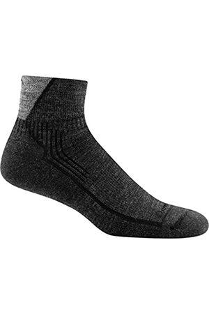 Darn Tough Men's Hiker 1/4 Sock Cushion (Style 1905) Merino Wool - 6 Pack Special (Black/Gray