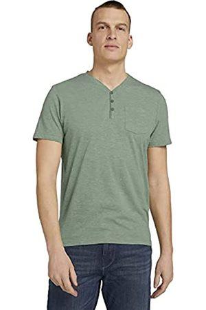 TOM TAILOR Herren 1026002 Henley T-Shirt, 27052-Mint Green Grindle Melangé