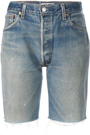 RE/DONE Damen Shorts - Knielange Jeans-Shorts