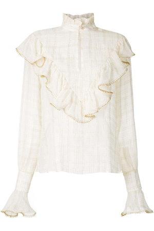 Olympiah Versailles' Hemd mit Stehkragen - Nude