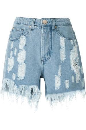 Olympiah Damen Shorts - Jeansshorts im Destroyed-Look