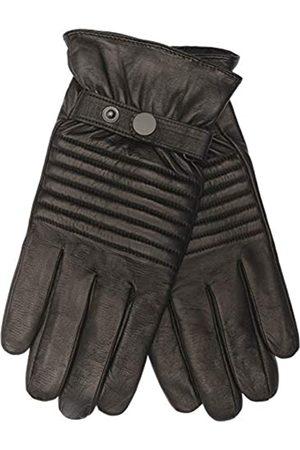EEM Fashion EEM Herren Leder Handschuhe JACK mit Touch-Funktion aus Lammnappaleder in Biker-Optik, Absteppungen auf der Oberhand, smartphone;
