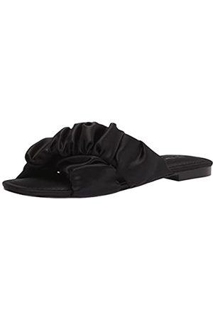 THE DROP Brianna flache Sandale, mit gerafften, überkreuzten Riemen, für Damen