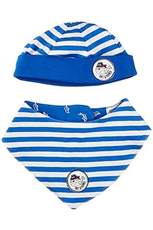 Salt & Pepper Baby-Jungen Ahoy Stripes Set Mütze und Schal, Cobalt+Cobalt