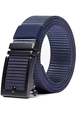 Generic Hefujufang Ratschengürtel für Herren Damen Nylon Webgürtel mit automatischer Schiebeschnalle - - Medium