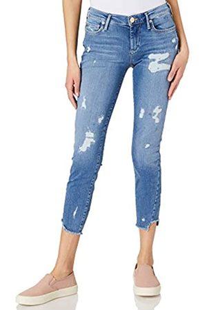 True Religion Damen Halle Triangle TRUEFLEX Blue Denim Jeans