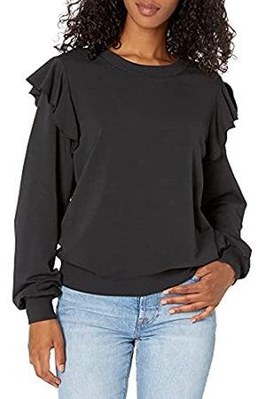 THE DROP Ruby Sweatshirt aus superweichem Stretch, mit Schulterrüschen, für Damen