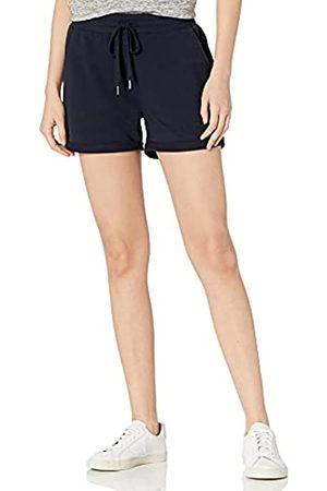 Daily Ritual Amazon-Marke: Damen Frottee Baumwolle und Modal Short mit gerolltem Boden, Navy
