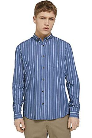 TOM TAILOR Herren 1024716 Longsleeve Hemd, 26427-Blue Irregular Bold