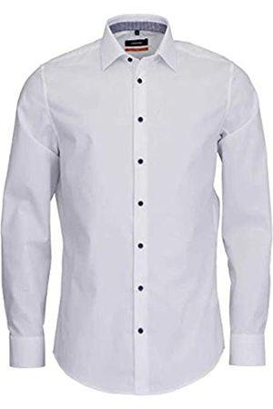 Seidensticker Herren Business - Herren Business Hemd – Einfarbiges Hemd mit schickem Kent-Kragen und einem hohem Tragekomfort – Passform Slim Fit – Extra langer Arm – 100% Baumwolle, Mehrfarbig (Wei