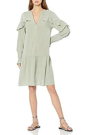 THE DROP Emerson romantisches Kleid mit tiefer Taille und Rüschen, für Damen, (Desert Sage)