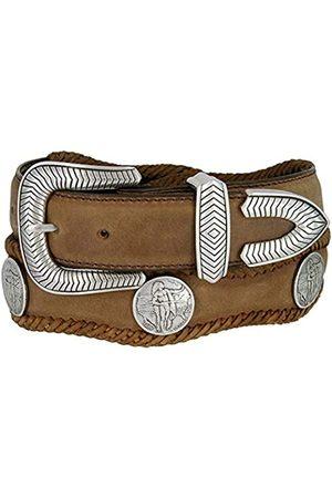 Unbekannt Herren Gürtel - American Indian Coin Conchos Western Cowboy Gürtel Hand Laced Scalloped Leather Belt - - 38