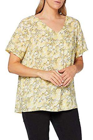 Carmakoma Damen Shirts - Womens CARBLOOM Life SS V-Neck TOP AOP T-Shirt