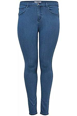 Carmakoma Damen Skinny - Female Skinny Fit Jeans Curvy CARstorm Push up hw 48Medium Blue Denim